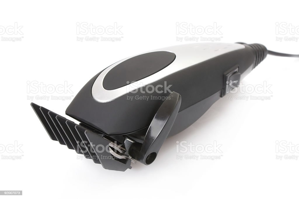 electric hair trimmer stock photo