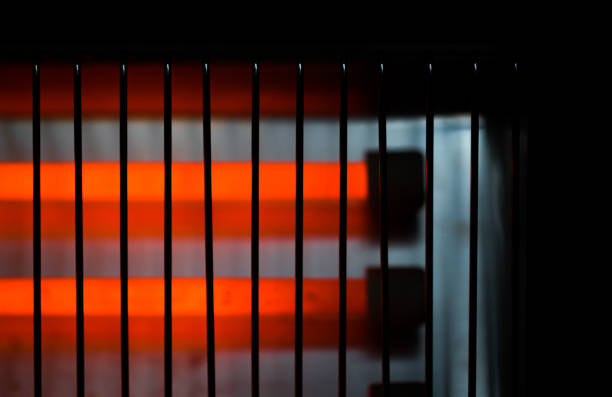 electric heater abstract background device hot stock photo