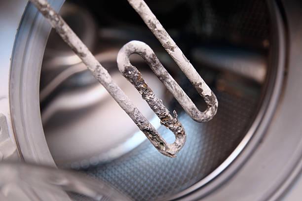 electric heater from washing machine - eisenmangel was tun stock-fotos und bilder