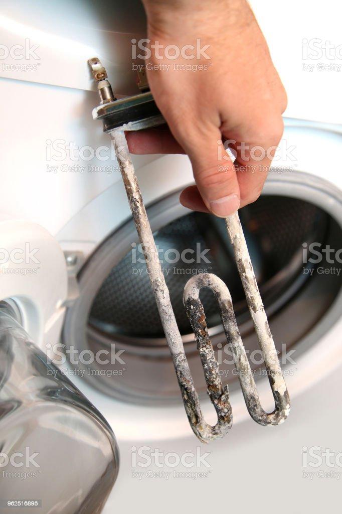 Aquecedor elétrico da máquina de lavar roupa - Foto de stock de Antigo royalty-free