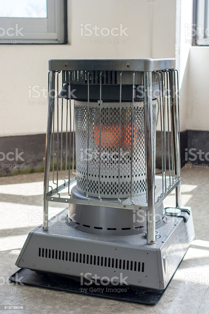 Electric Heater or Fireplace in Japanese style stock photo
