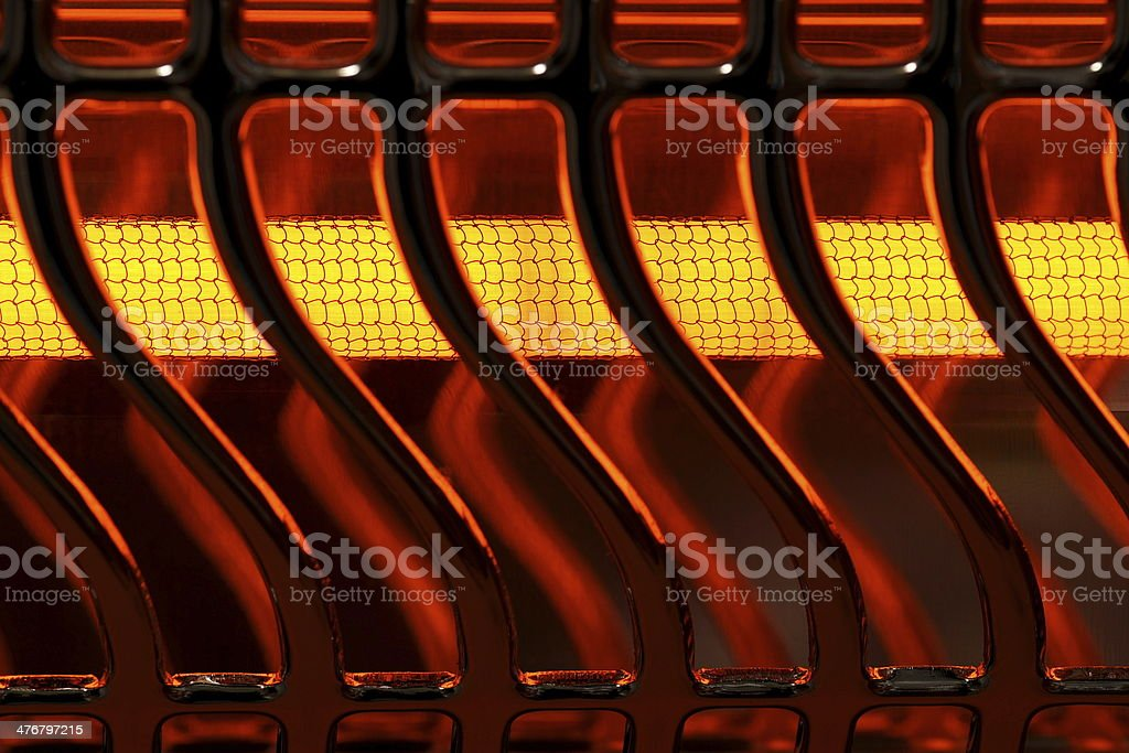 electric heater stock photo