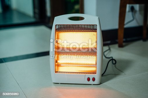 Electric heater, used at home.