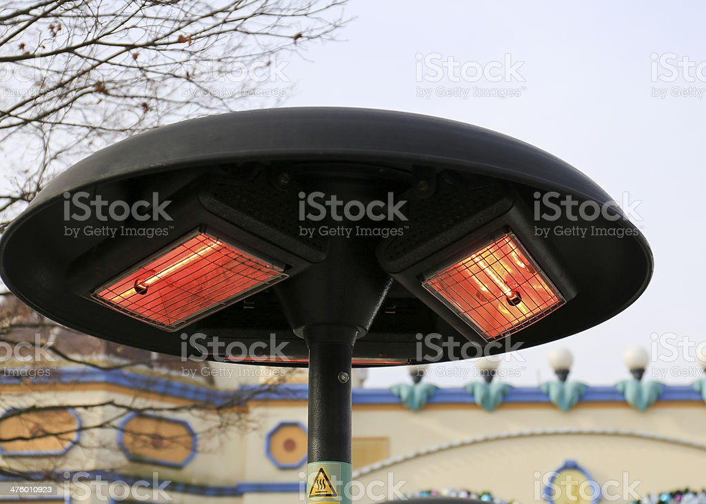 Electric heater pole with halogen coils , Korea royalty-free stock photo