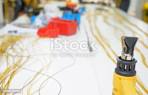 Working with wires, connectors used in auto-electrical industry