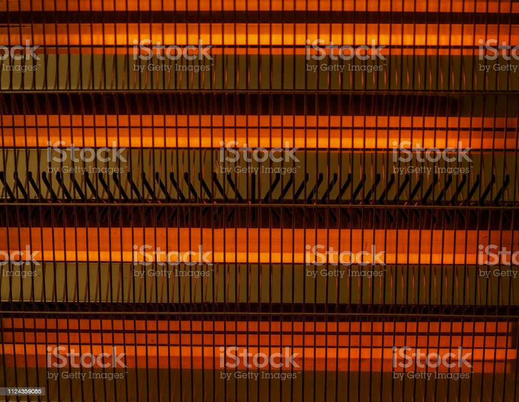 Electric Heater.Isolated. Stock Image stock photo