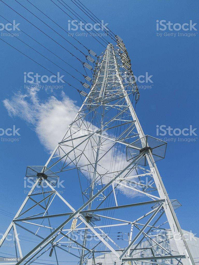 전기 높은 기둥 royalty-free 스톡 사진