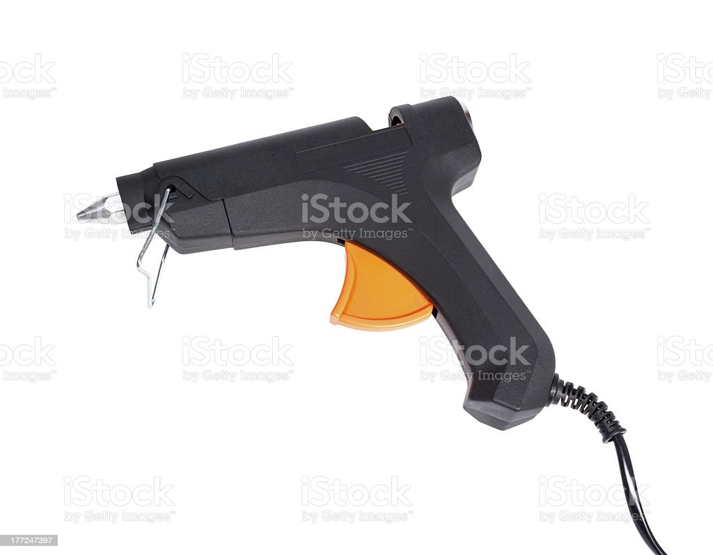 Electric hot glue gun stock photo
