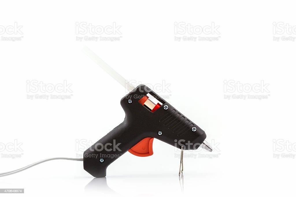 Electric hot glue gun . stock photo