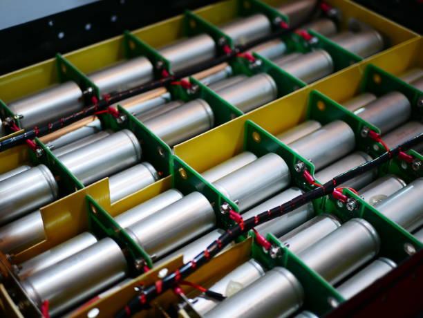 Electric Hybrid battery stock photo