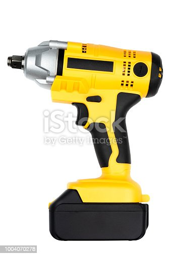 istock Electric impact wrench isolated on white background for construction, industrial, electrician concept design. 1004070278