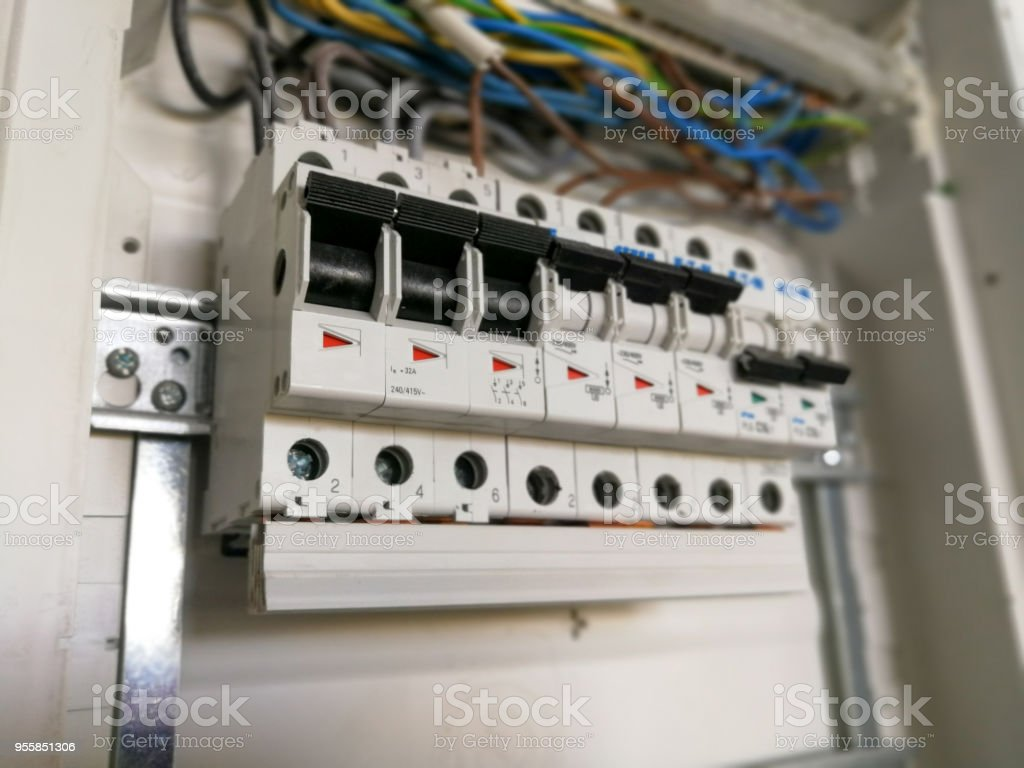 Electric Installation Inside Switch Board Cabinet Stock Photo & More ...