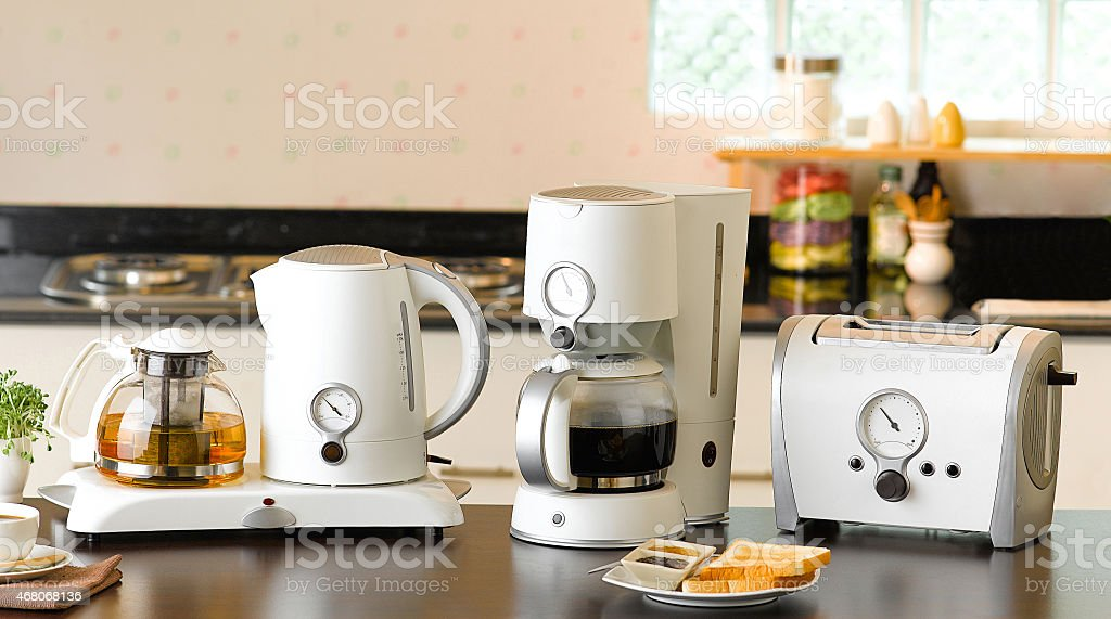 Electric kitchenwares stock photo