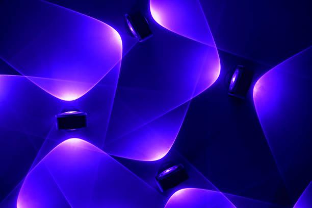 electric LED light bright dynamic background stock photo