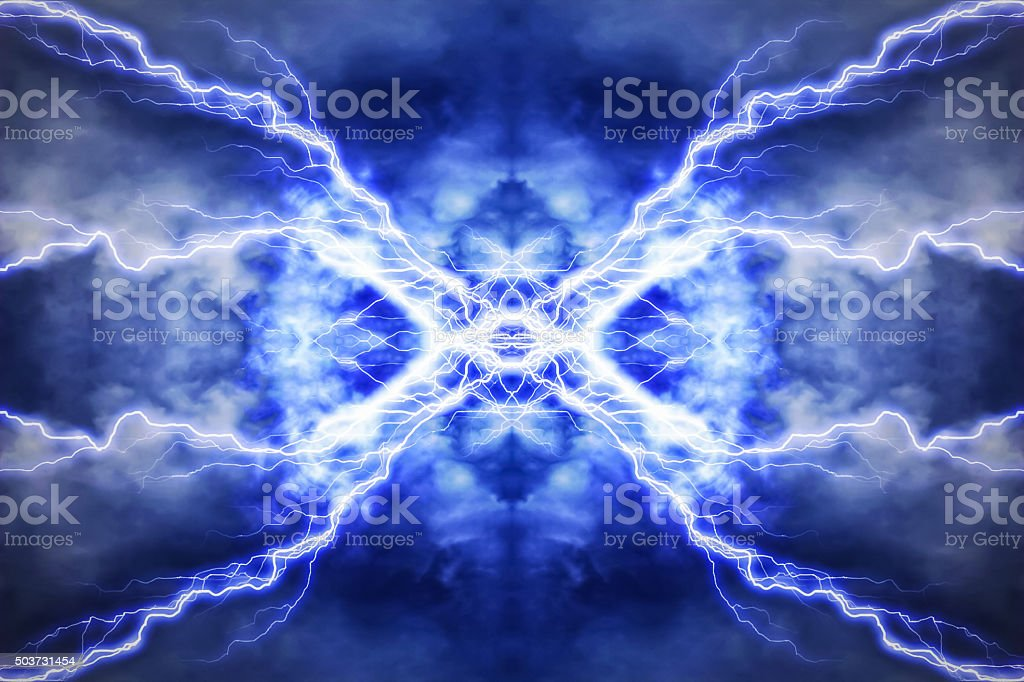 Electric lighting effect, abstract techno backgrounds stock photo