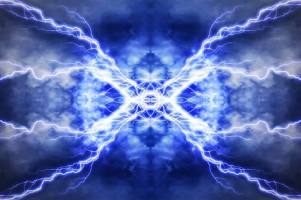 эффект электрического освещения, абстрактных техно фон - lightning стоковые фото и изображения