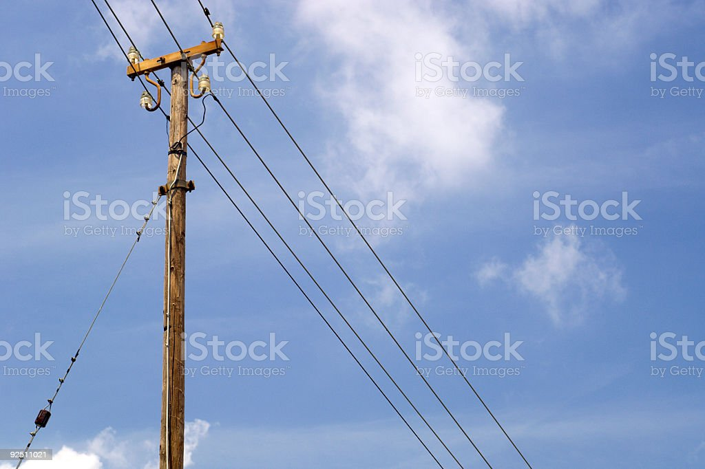Electric line royalty-free stock photo