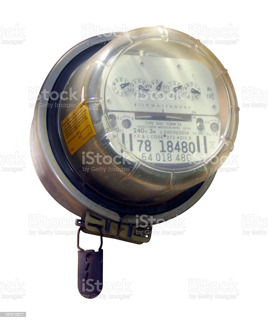 Electric Meter [Precise Clipping Path] royalty-free stock photo