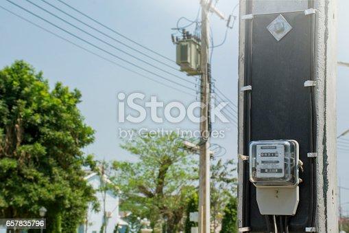693910734 istock photo Electric meters 657835796