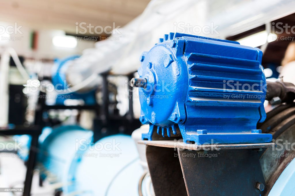 Electric motor in a laboratory stock photo