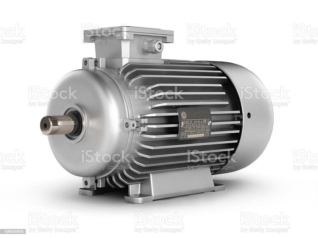 Electric motor isolated on white background 3d Lizenzfreies stock-foto