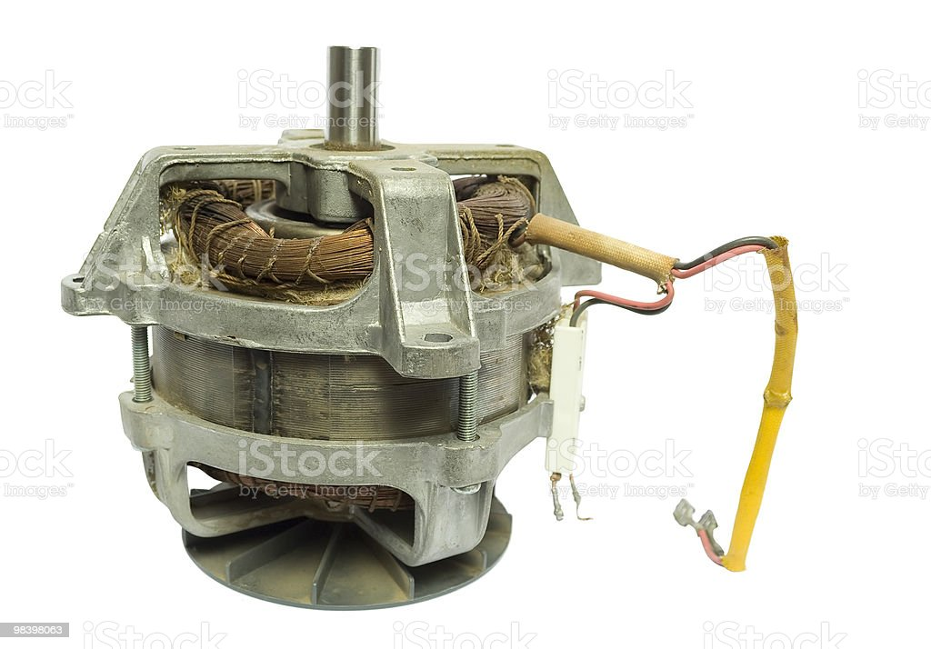 Electric motor royalty-free stock photo