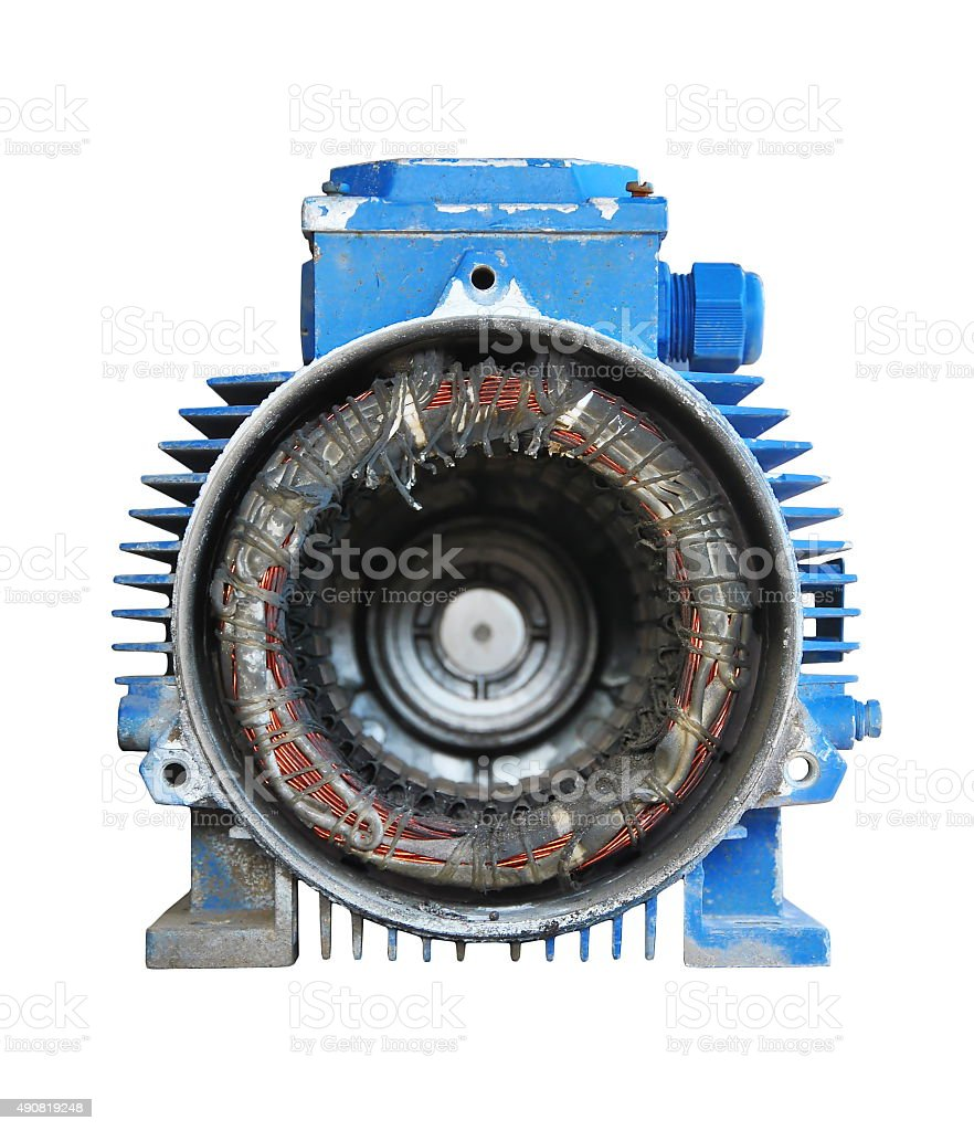 Electric motor with out rotor stock photo
