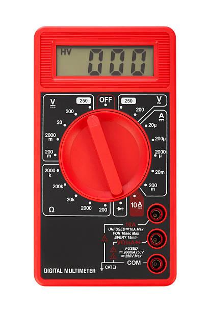Electric multimeter stock photo