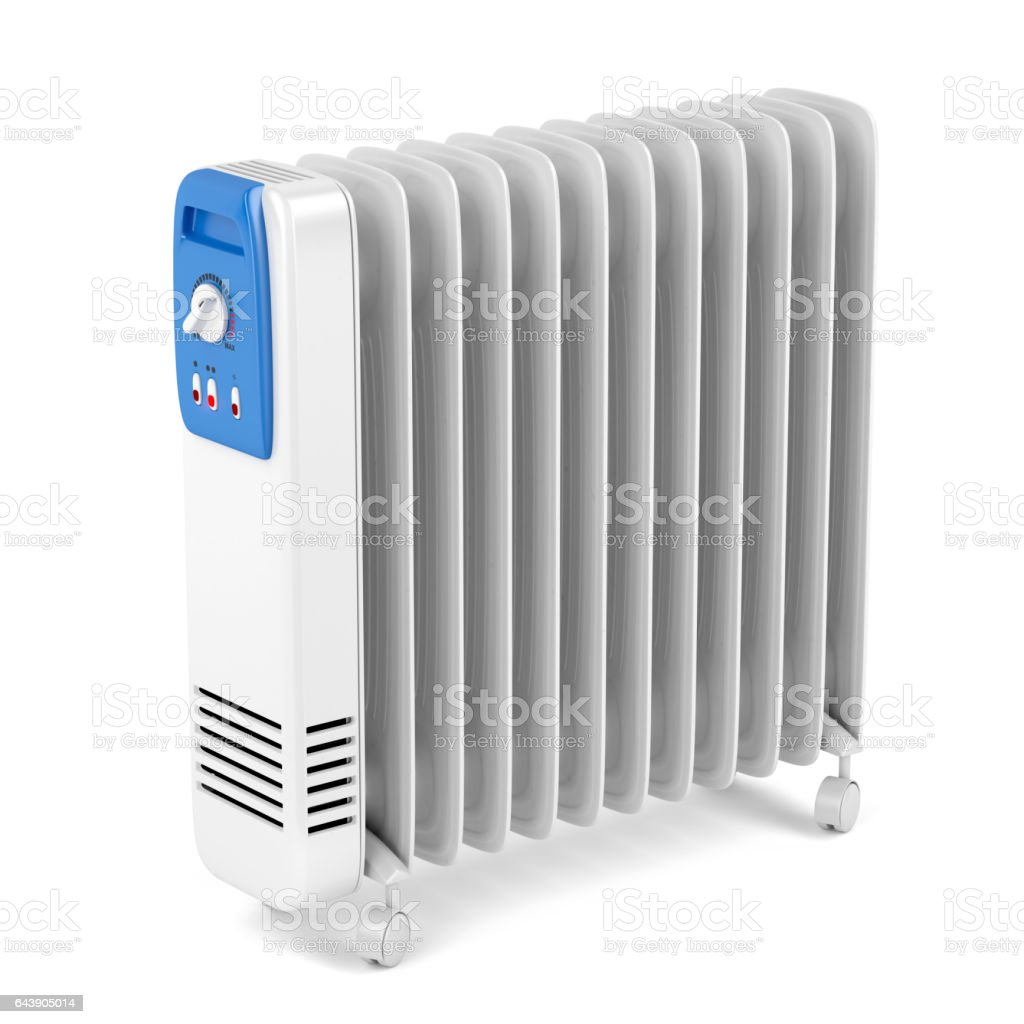 Electric oil heater stock photo