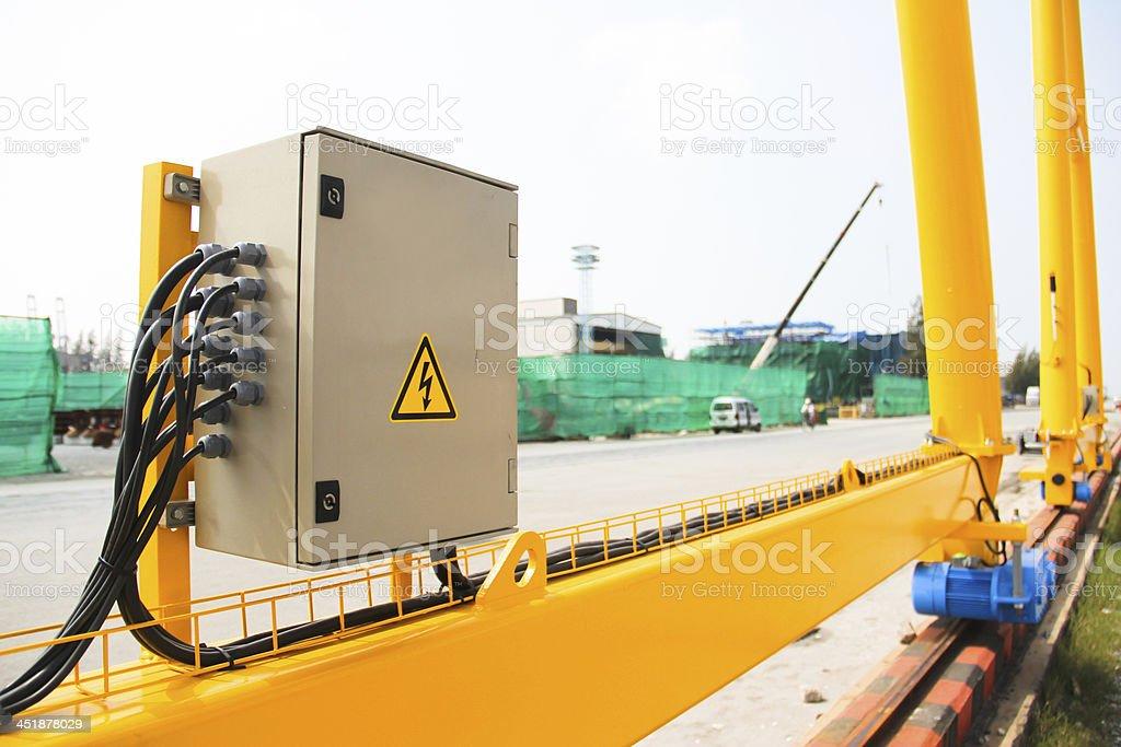 electric on crane royalty-free stock photo