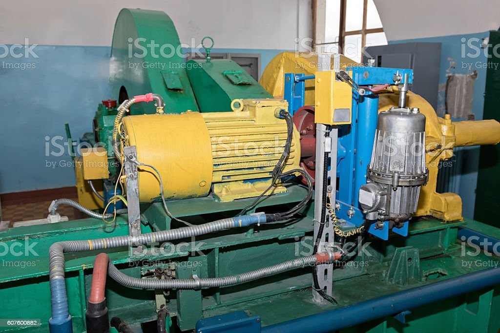 Electric operated pump stock photo