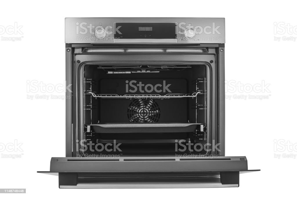 Electric Oven With Open Door Isolated On White Background ...