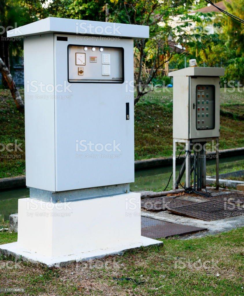 Electric panel fuse inastalation stock photo