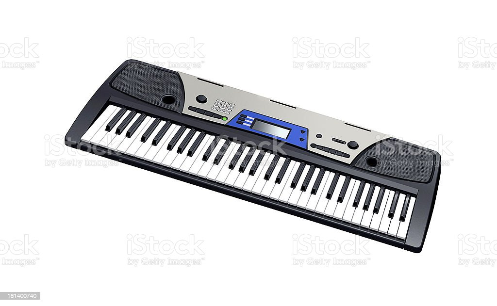 Electric piano isolated royalty-free stock photo