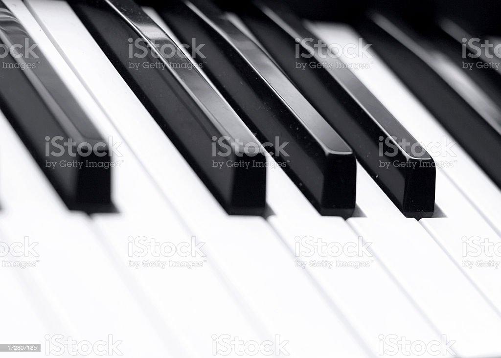 Electric Piano keyboard keys royalty-free stock photo