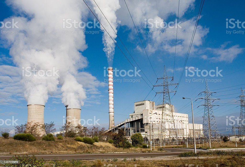 Electric plant Amyntaion Greece royalty-free stock photo
