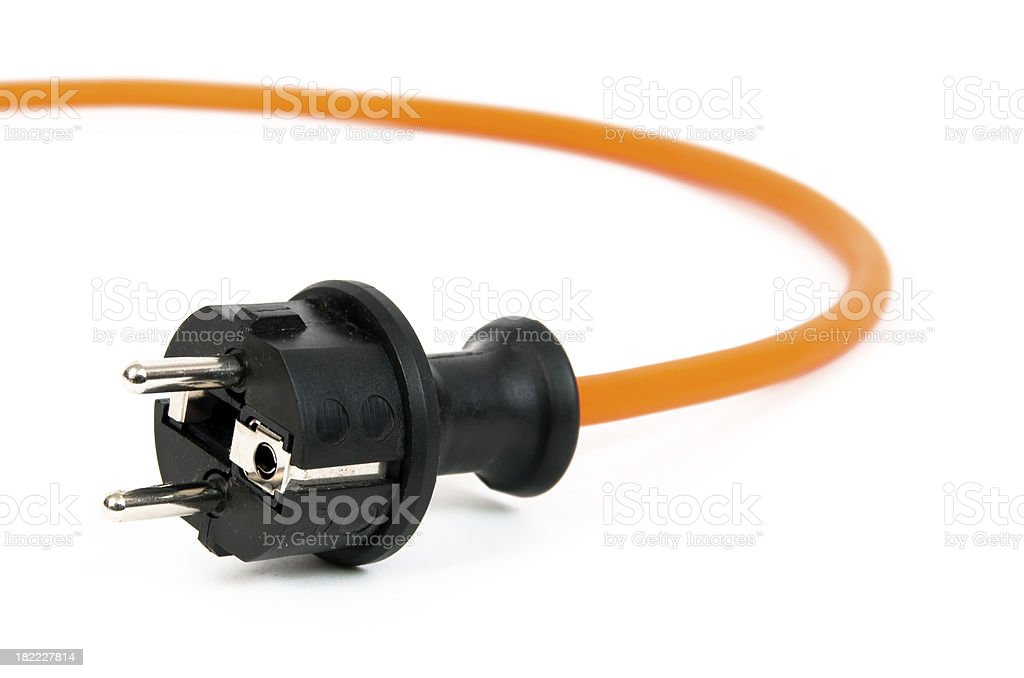 Electric Plug royalty-free stock photo