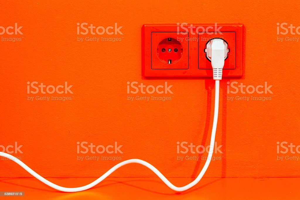 Electric plug stock photo