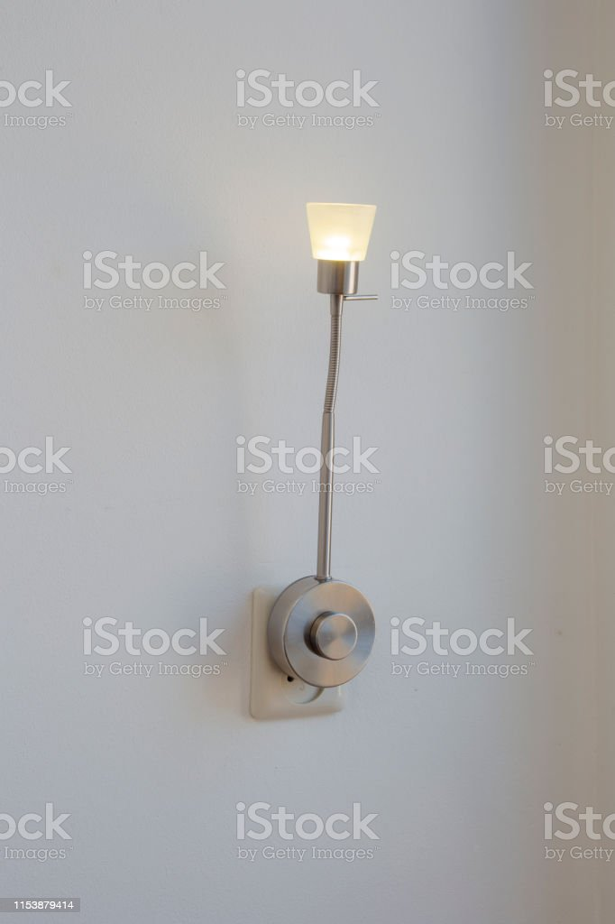 A electric plug-in lamp is modern object interior . decorate on white...