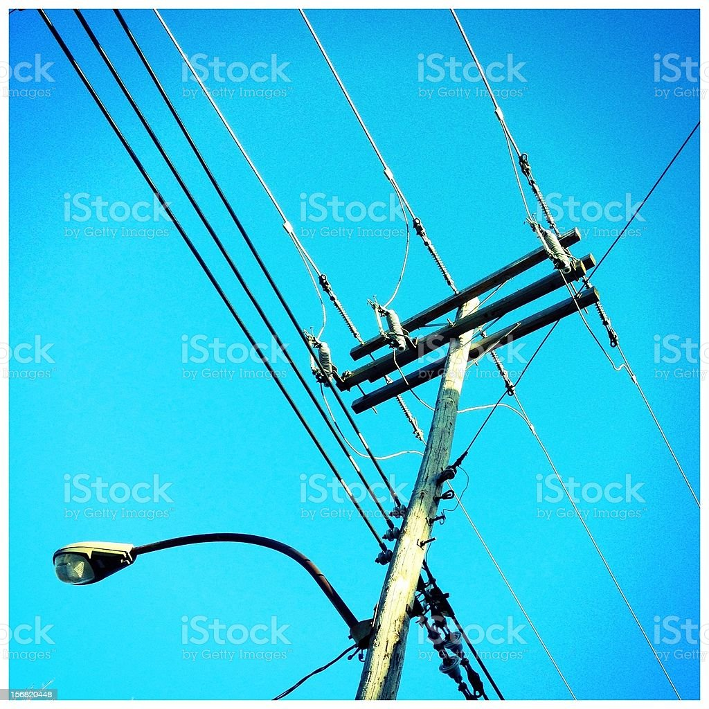 Electric pole royalty-free stock photo