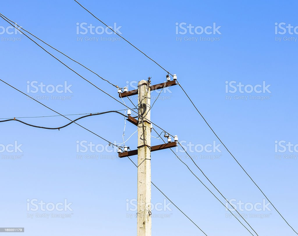 Electric post. royalty-free stock photo