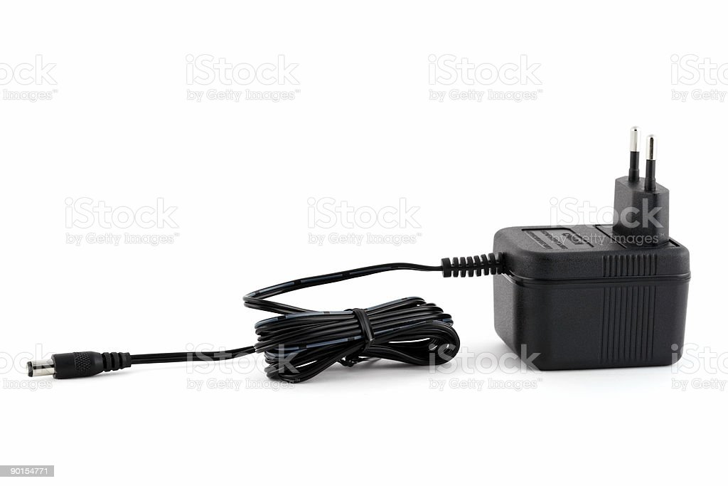 Electric power adapter royalty-free stock photo