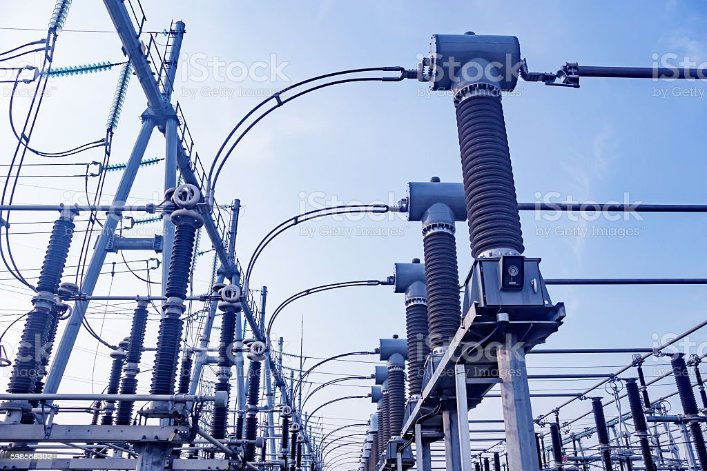 Electric power equipment stock photo