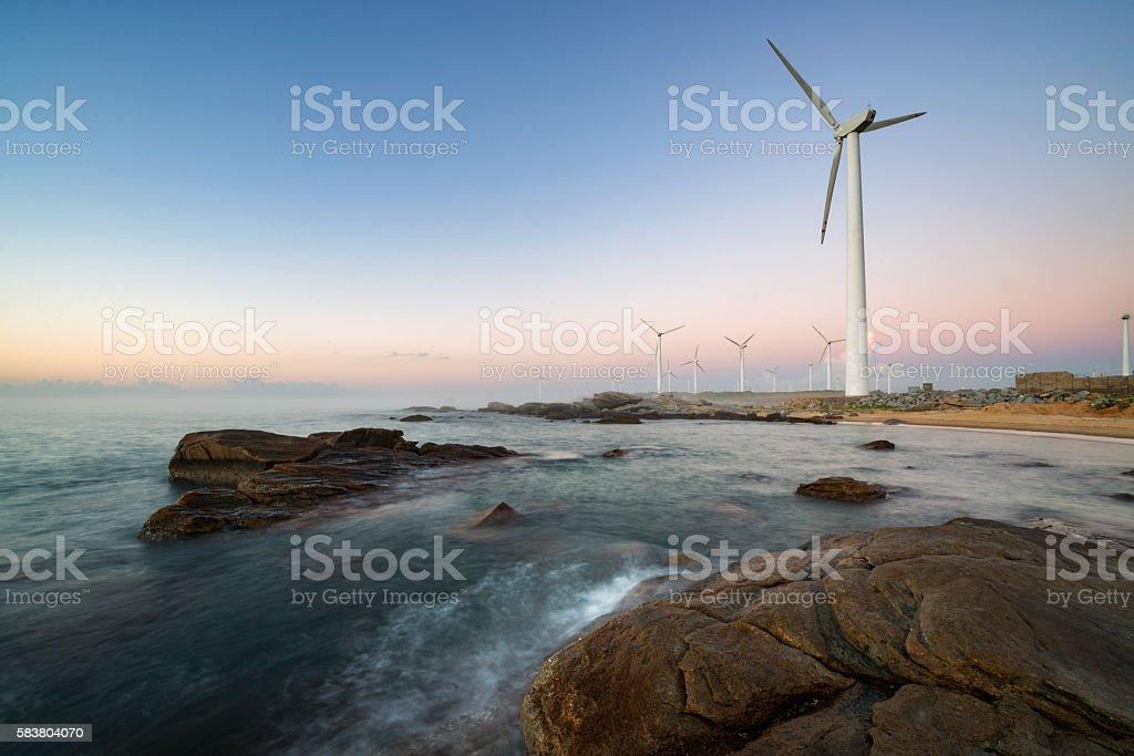 Electric power generation stock photo