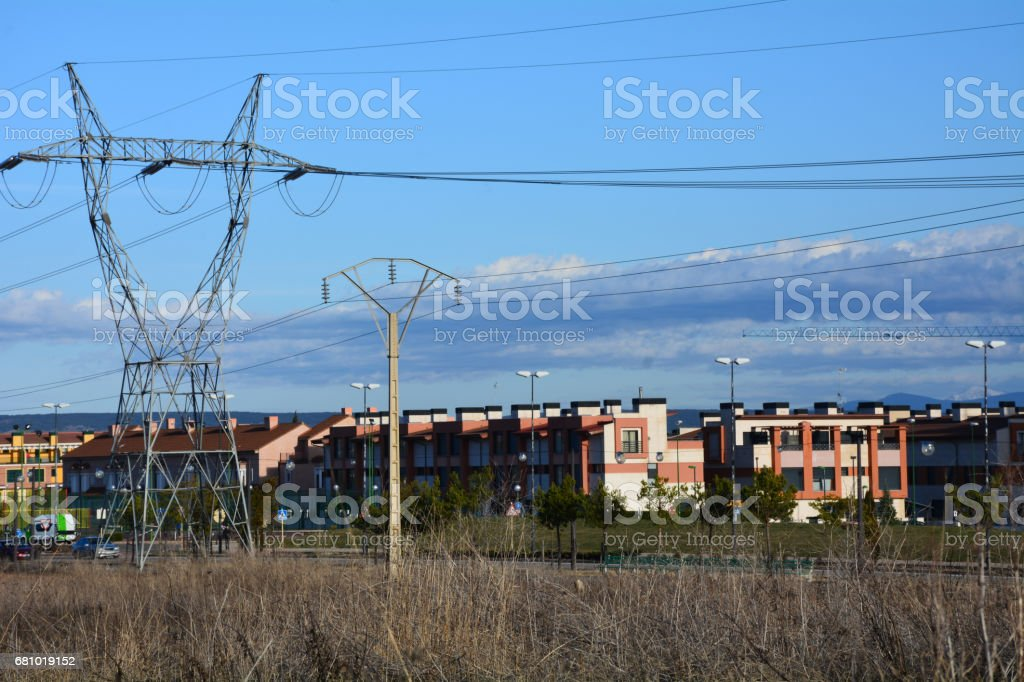 Electric power line. royalty-free stock photo