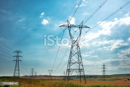Electric Power Lines and Transmission Tower