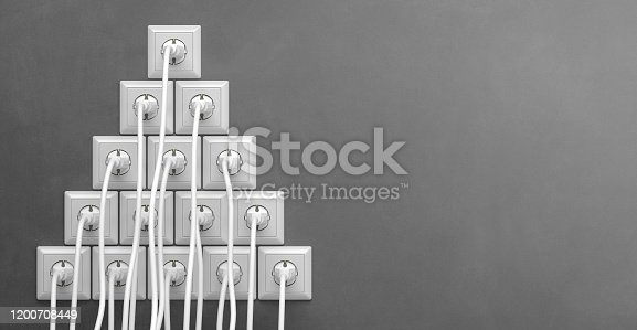 istock electric power plug with cord 1200708449