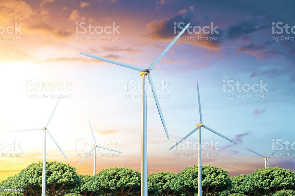 Electric power production foto de stock royalty-free