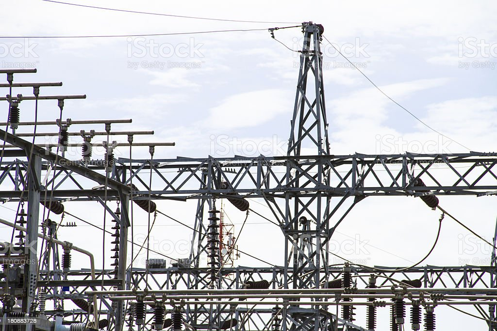 Electric Power Station royalty-free stock photo