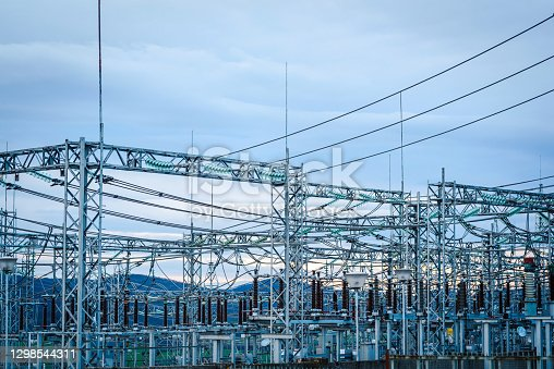 Electric power station / Substation stock photo.